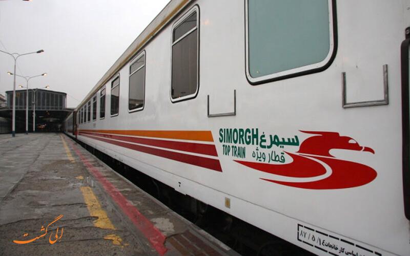 عکس بلیط قطار سیمرغ نوین