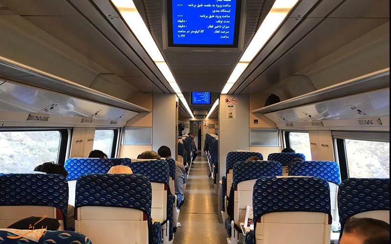 قطارهای 4 ستاره اتوبوسی، سریع ترین قطار رشت تهران