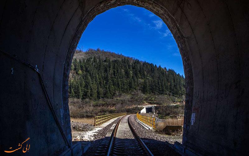تونل های قطار تهران رشت