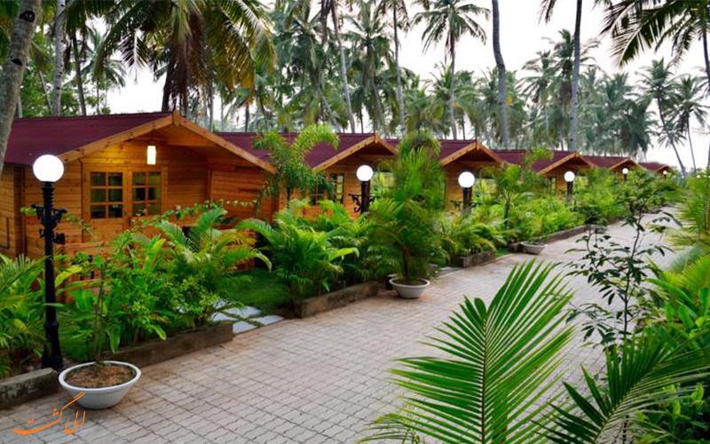 ردیف خانه های چوبی هتل مجستیک بیچ کامفورت (Majestic Beach Comfort Hotel)