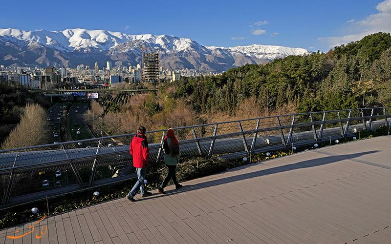 توزیع پارک های تهران متفاوت است