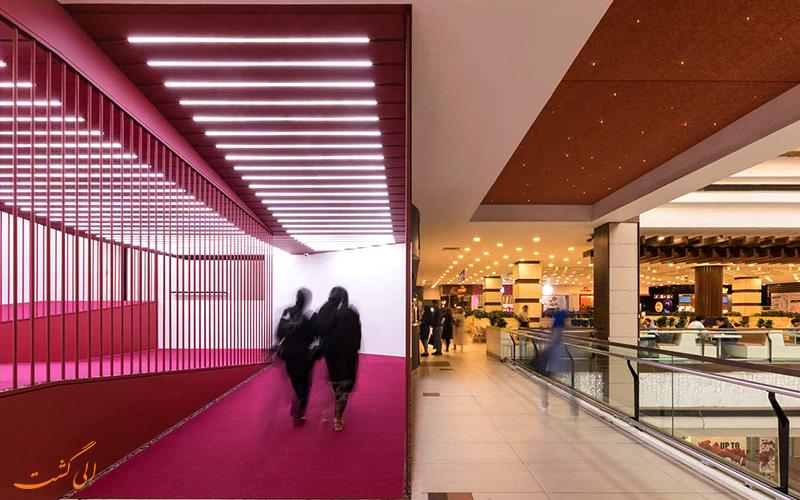 معماری بسیار زیبای سینما مرکز خرید تیراژه 2