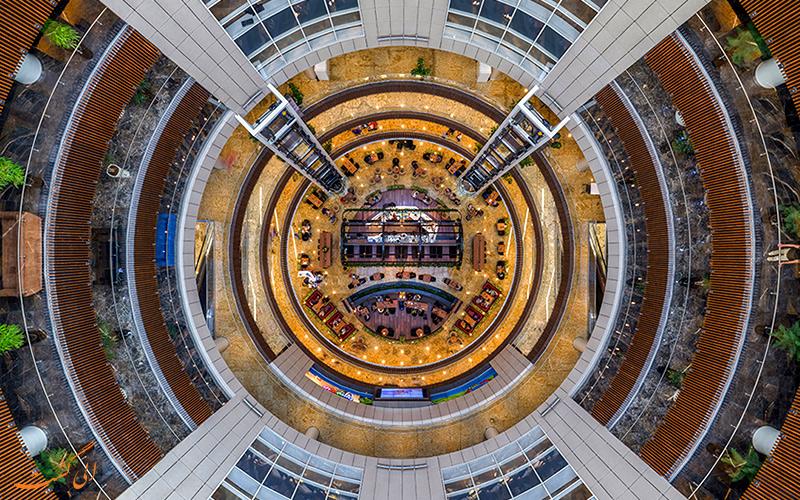 نمای بالا به پایین مرکز خرید سانا   Sana Shopping Center