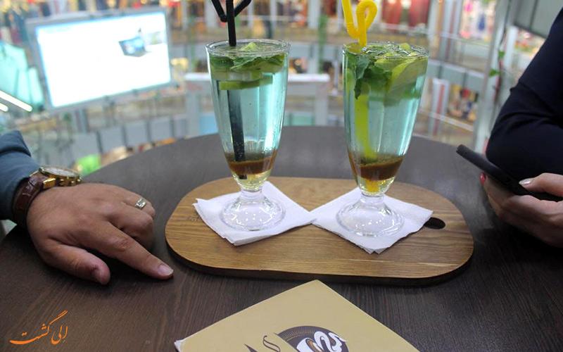 تصویر نوشیدنی در کافی شاپ مرکز خرید دنیای نور تهران   Donyaye Noor Shopping Center