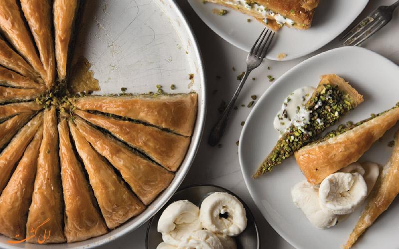 دسر ترکی مخصوص رستوران های نصرت