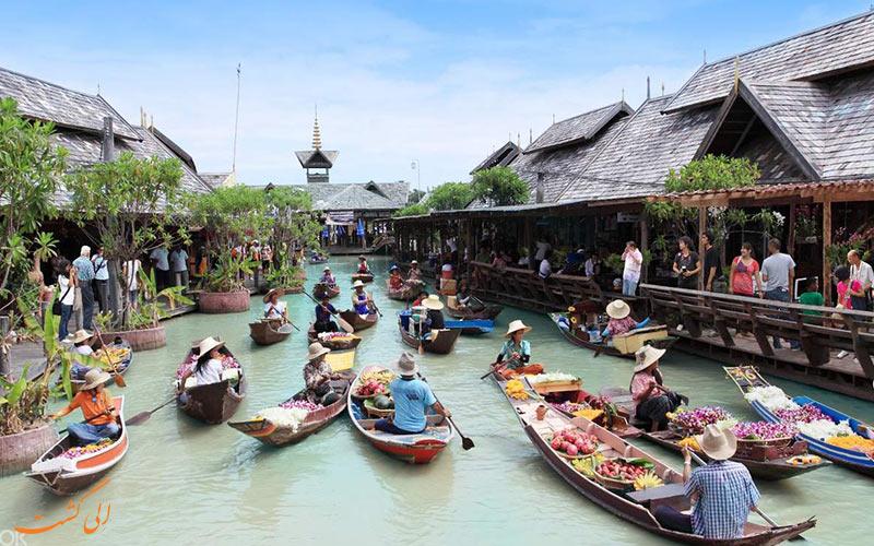 تصویری از بازار شناور پاتایا