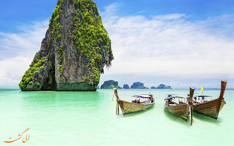 نمایی از ساحل پوکت در تایلند