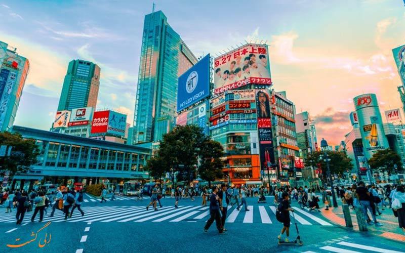 نمایی از یک خیابان در ژاپن