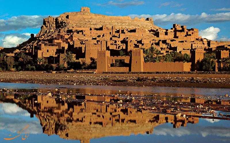 منظره ای از بناهای قدیمی در مراکش