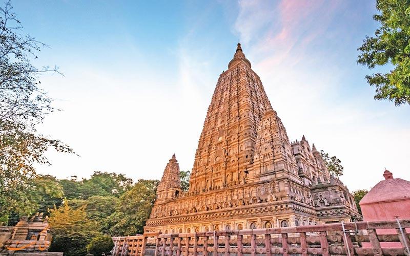 نمایی از یک معبد بزرگ در هند