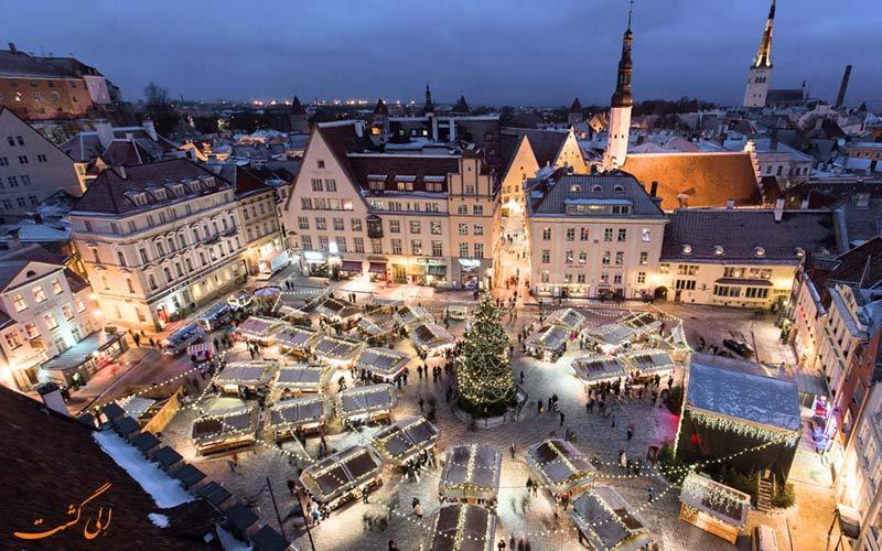 نمایی از یکی از میدان های اروپا در آستانه سال نو