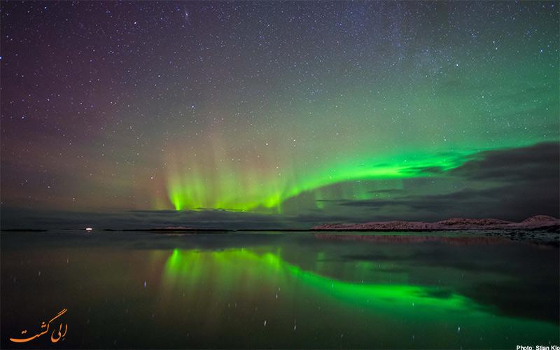 تصویر شفق قطبی در کشور آیسلند | Northern Lights
