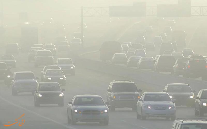 ترافیک یکی از عوامل ایجاد آلودگی هوا