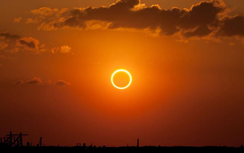 نمایی زیبا از حلقه آتش