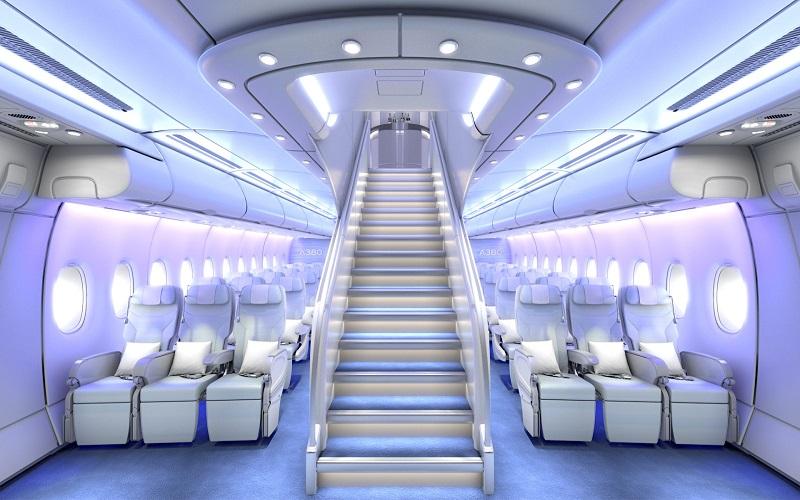 نمای داخلی هواپیما A380