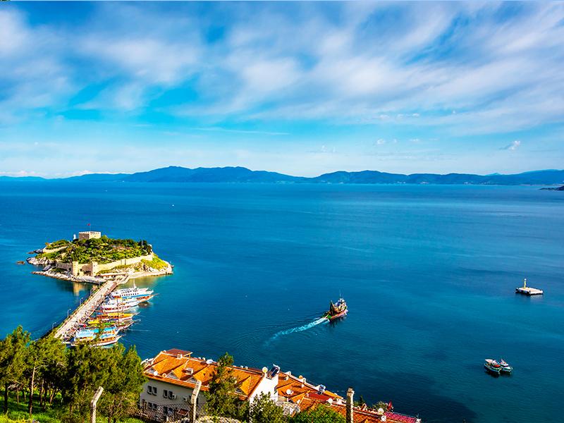 جزیره کبوتر کوش آداسی، جاذبه ای دیدنی در ترکیه
